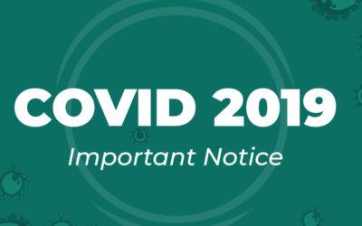 COVID-19 | Important Notice